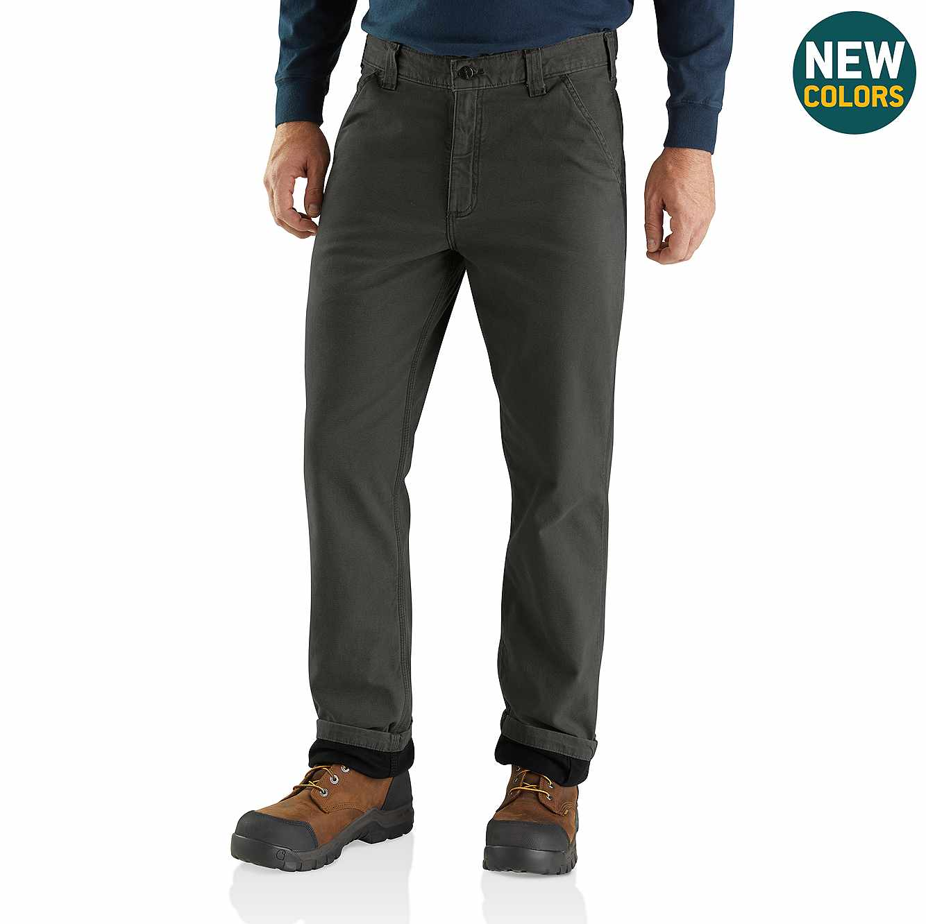 Picture of Rugged Flex® Rigby Dungaree Knit Lined Pant in Peat
