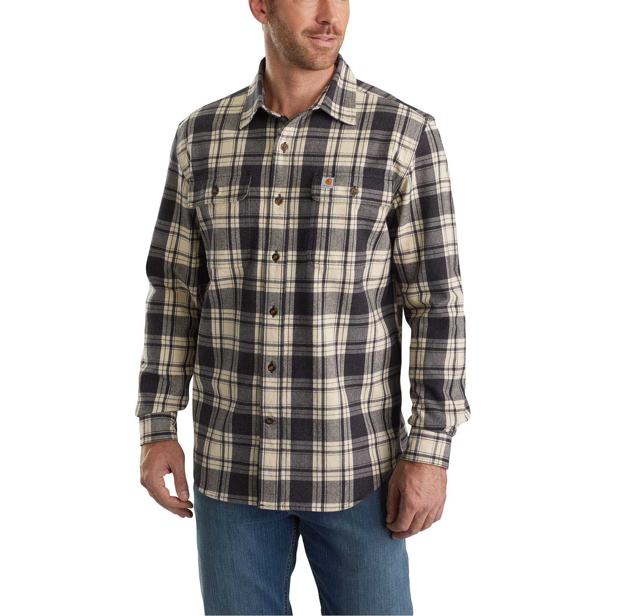 Men S Hubbard Plaid Flannel Shirt Out 103348 Carhartt