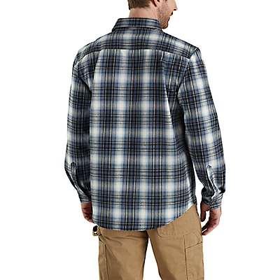Carhartt  Gravel Hubbard Plaid Flannel Shirt - back