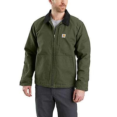 Carhartt Men's Moss Full Swing® Loose Fit Washed Duck Fleece-Lined Jacket