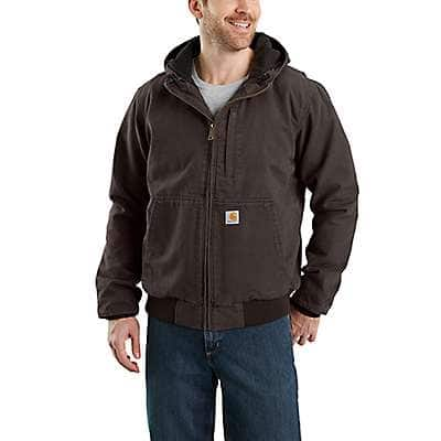 Carhartt Men's Dark Brown Full Swing® Armstrong Active Jac - front