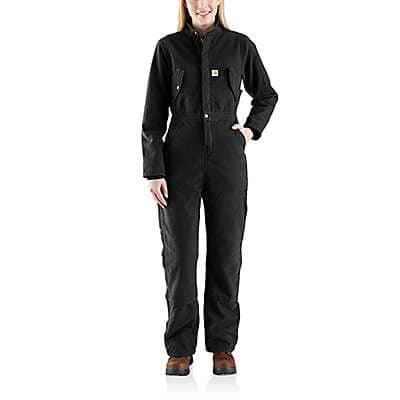 Carhartt Women's Black Wildwood Coverall - front