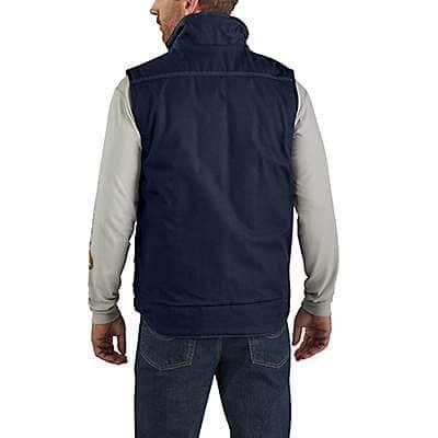 Carhartt Men's Dark Navy Flame-Resistant Quick Duck®  Insulated Vest - back