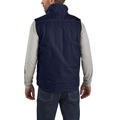 Carhartt  Dark Navy Flame-Resistant Quick Duck®  Insulated Vest - back
