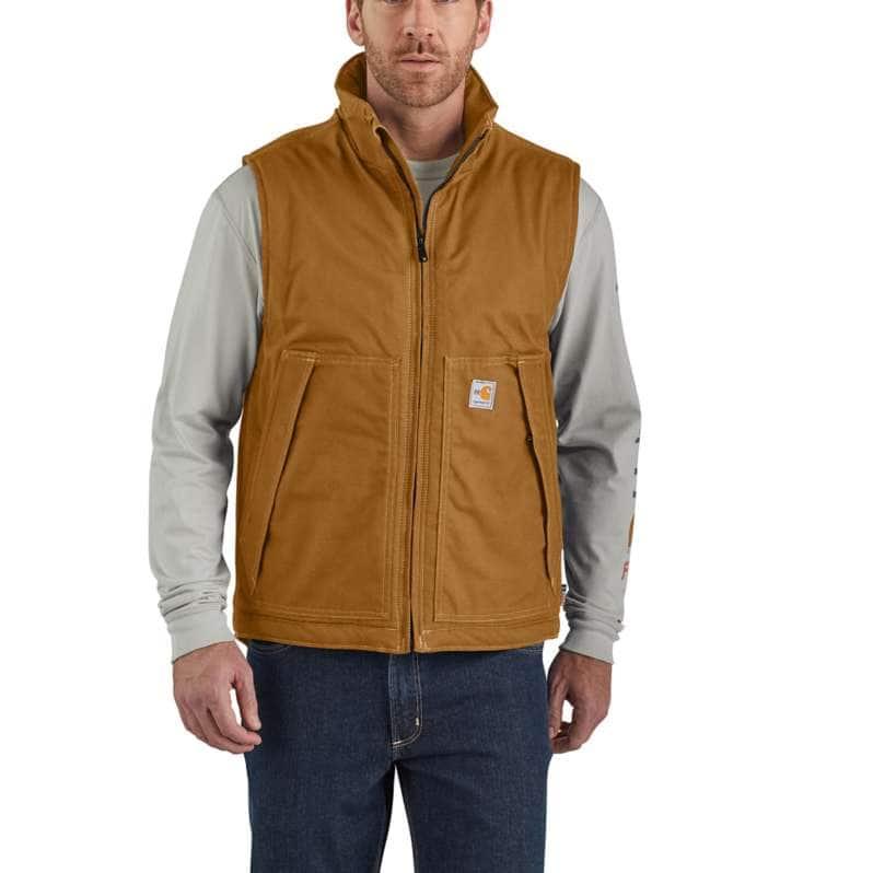 Carhartt  Carhartt Brown Flame-Resistant Quick Duck® Vest