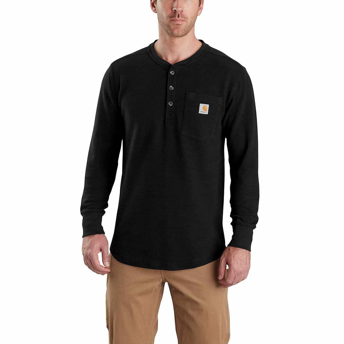 b67c45f1f9c9b8 Men's Tilden Long-Sleeve Henley Shirt 103398   Carhartt