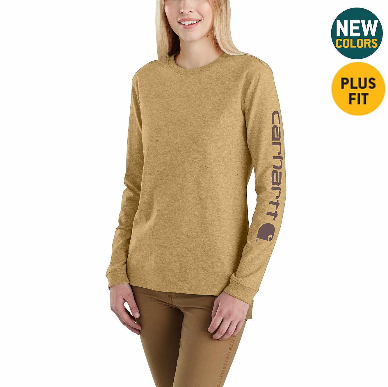 Picture of WK231 Workwear Sleeve Logo Long-Sleeve T-Shirt in Yellowstone Heather