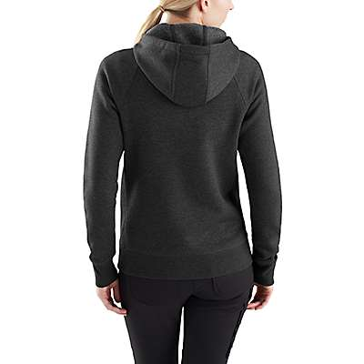 Carhartt Women's Fudge Heather Force® Delmont Graphic Zip-Front Hooded Sweatshirt - back