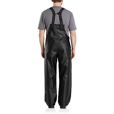 Carhartt Men's Canopy Green Midweight Waterproof Rainstorm Bib Overalls - back