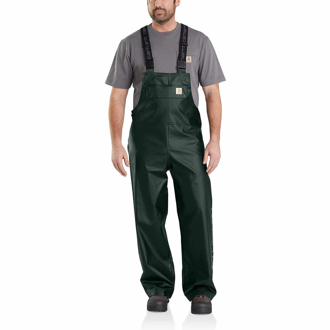 Picture of Midweight Waterproof Rainstorm Bib Overalls in Canopy Green