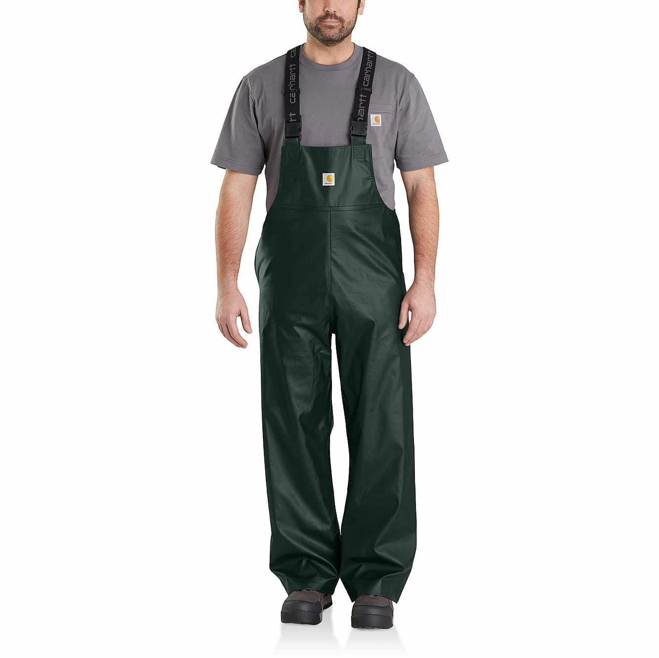 Picture of Lightweight Waterproof Rainstorm Bib Overalls in Canopy Green