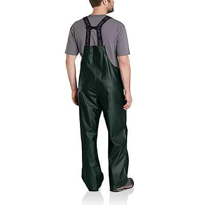 Carhartt Men's Yellow Lightweight Waterproof Rainstorm Bib Overalls - back