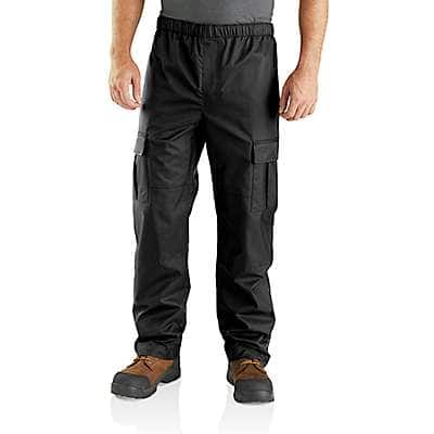 Carhartt Men's Black Dry Harbor Waterproof Breathable Pant - front