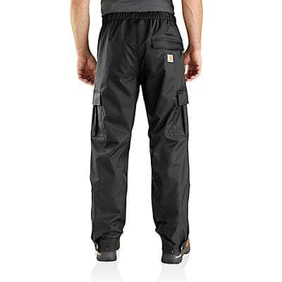 Carhartt Men's Black Dry Harbor Waterproof Breathable Pant - back