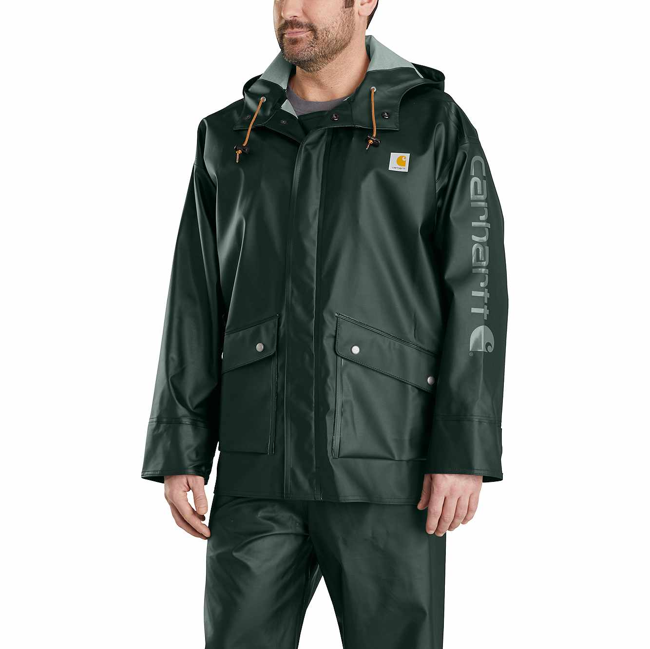 Picture of Midweight Waterproof Rainstorm Jacket in Canopy Green