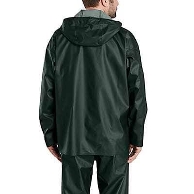 Carhartt Men's Yellow Lightweight Waterproof Rainstorm Jacket - back