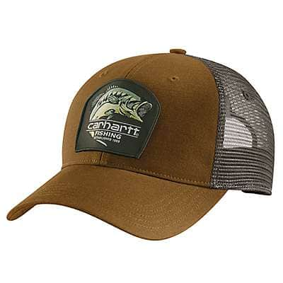 Carhartt Men's Oiled Walnut Largemouth Bass Cap - front