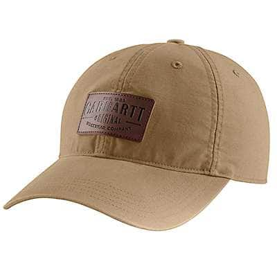 Carhartt Men's Peat Rigby Leatherette Patch Cap - front