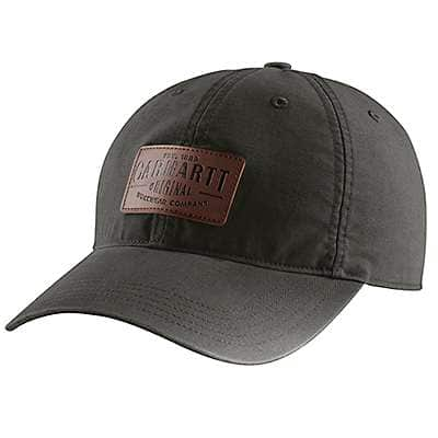 Carhartt  Peat Rigby Leatherette Patch Cap - front