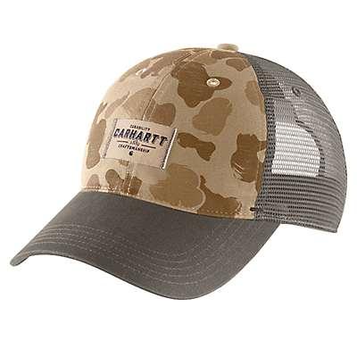 Carhartt Men's Dark Khaki Duck Camo Glennville Cap - front