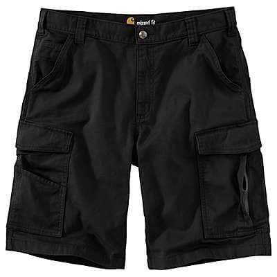 Carhartt Men's Black Rugged Flex® Relaxed Fit Canvas Cargo Work Short