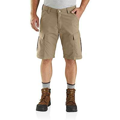 Carhartt Men's Dark Khaki Carhartt Force® Broxton Cargo Short - front