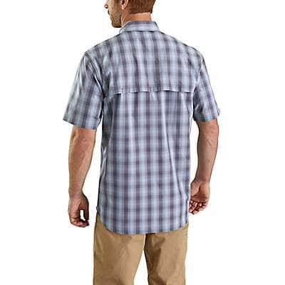 Carhartt Men's Steel Blue Carhartt Force® Ridgefield Plaid Short-Sleeve Shirt - back