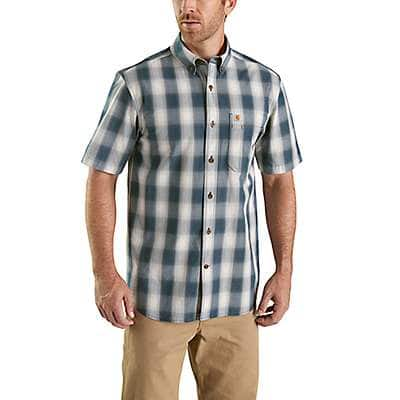 Carhartt Men's Twilight Essential Plaid Button-Down Short Sleeve Shirt - front