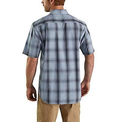 Carhartt Men's Carhartt Brown Essential Plaid Open Collar Short Sleeve Shirt - back