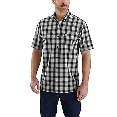 Carhartt Men's Shadow Fort Plaid Short Sleeve Shirt - front