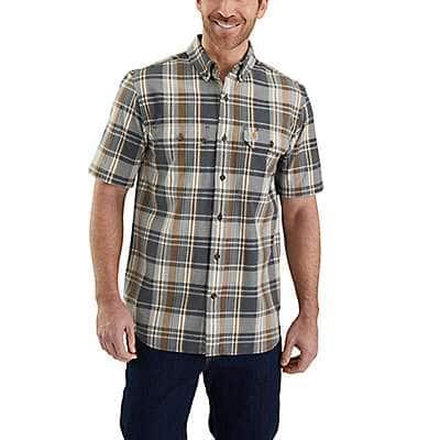 Carhartt Men's Shadow Fort Plaid Short Sleeve Shirt - front
