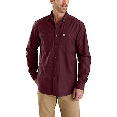 Carhartt Men's Port Rugged Flex Rigby Long-Sleeve Work Shirt - front
