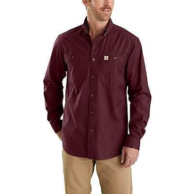 Carhartt Men's Port Rugged Flex Rigby Long-Sleeve Work Shirt - front