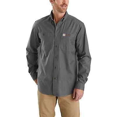 Carhartt Men's Gravel Rugged Flex® Relaxed Fit Midweight Canvas Long-Sleeve Shirt