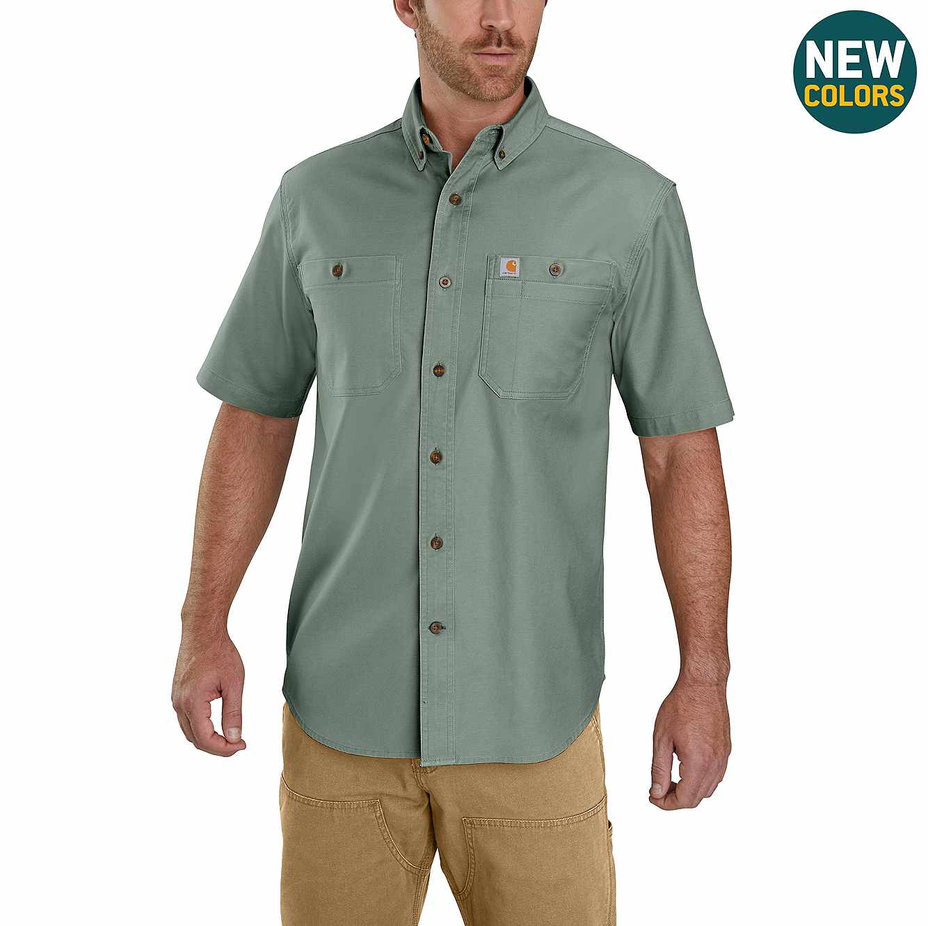 Picture of Rugged Flex Rigby Short-Sleeve Work Shirt in Leaf Green