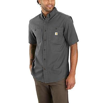 Carhartt Men's Gravel Rugged Flex® Relaxed Fit Mideweight Canvas Short-Sleeve Shirt