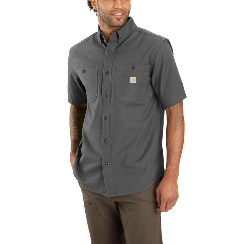 Carhartt  Gravel Rugged Flex® Relaxed Fit Mideweight Canvas Short-Sleeve Shirt