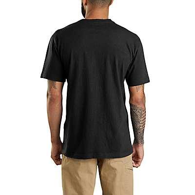 Carhartt Men's Peat Heather Maddock Born to Build Graphic Short-Sleeve T-Shirt - back