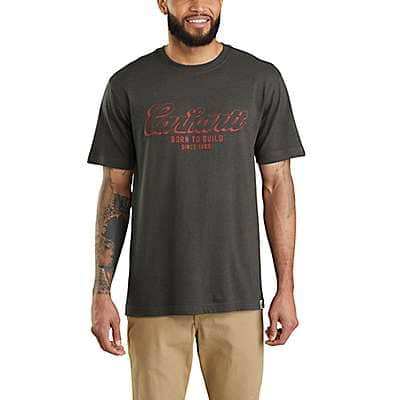 Carhartt Men's Peat Heather Maddock Born to Build Graphic Short-Sleeve T-Shirt - front