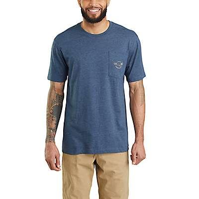Carhartt Men's Black Maddock Carhartt Strong Graphic Pocket Short-Sleeve T-Shirt - back