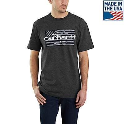 Carhartt Men's Carbon Heather Lubbock Craftsmanship Graphic Short-Sleeve T-Shirt - front