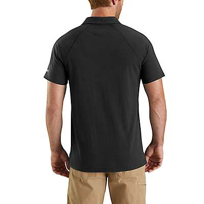 Carhartt  Heather Gray Carhartt Force® Cotton Delmont Pocket Polo - back