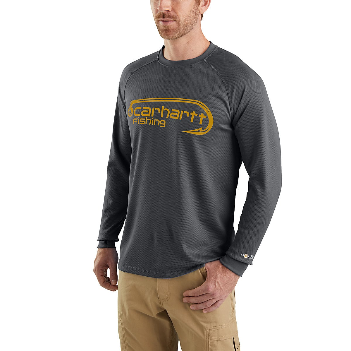 ffa7f9506 Men's Carhartt Force® Fishing Graphic Long-Sleeve T-Shirt | Carhartt