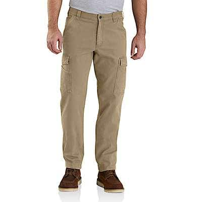 Carhartt Men's Dark Khaki Rugged Flex® Relaxed Fit Canvas Cargo Work Pant