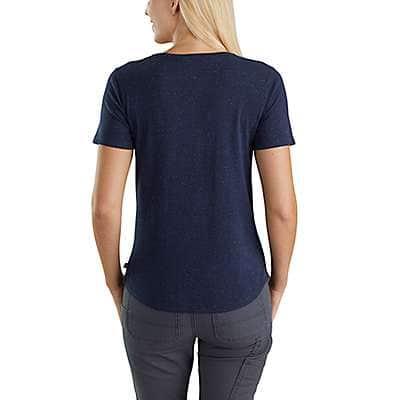 Carhartt Women's Brick Dust Heather Lockhart Graphic Carhartt Workwear Short-Sleeve T-Shirt - back