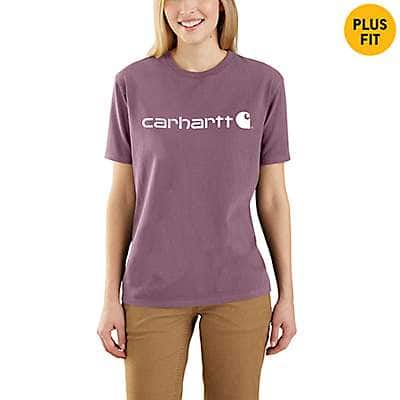 Carhartt Women's Lavender Shadow WK195 Workwear Logo Short Sleeve T-Shirt - front