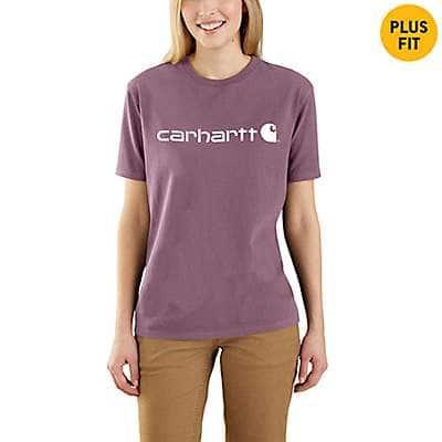bc7909aa6cd91 Carhartt Women's Lavender Shadow WK195 Workwear Logo Short Sleeve T-Shirt -  front ...
