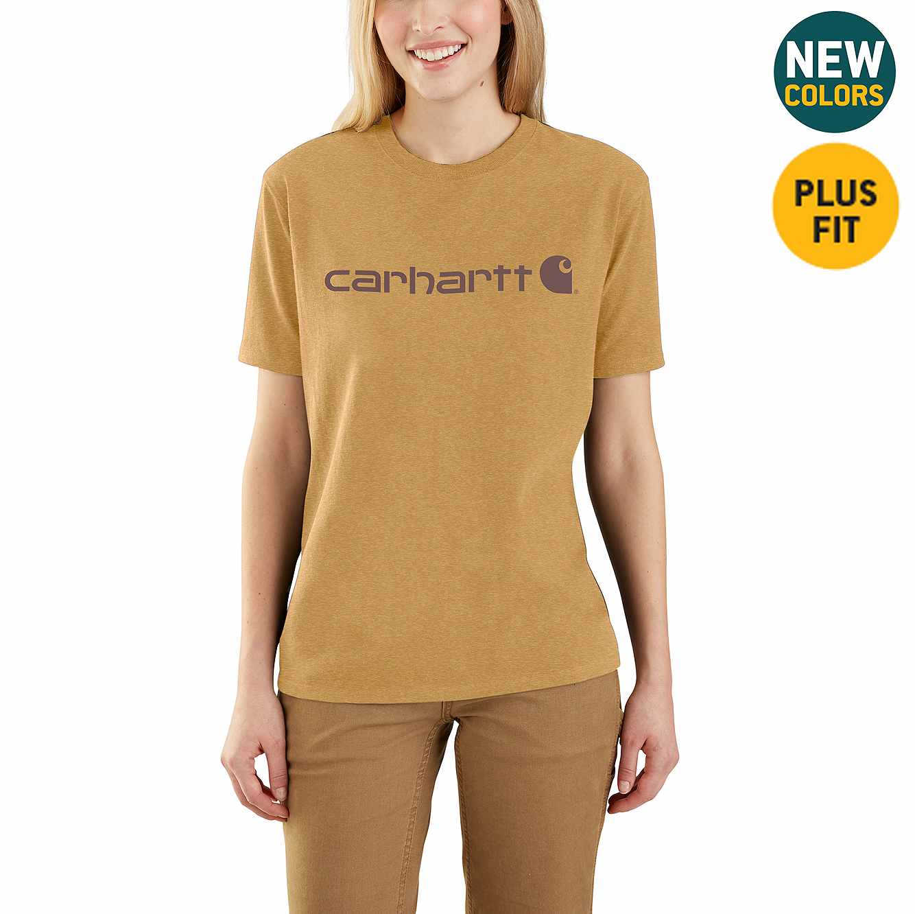 Picture of WK195 Workwear Logo Short Sleeve T-Shirt in Yellowstone Heather