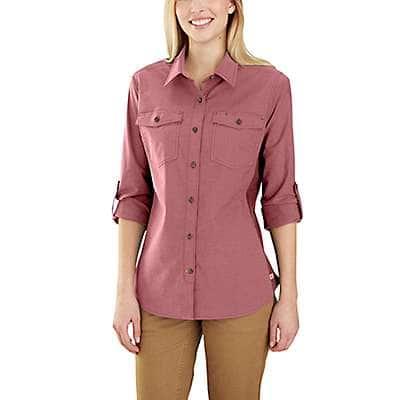 Carhartt Women's Glacier Gray Rugged Flex Bozeman Shirt - front