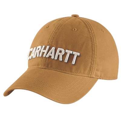Carhartt Women's Carhartt Brown Canvas Block Logo Graphic Cap